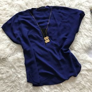 Zara Woman Dark Blue Top Size Large
